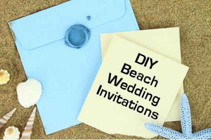 Handmade Beach Wedding Invitations