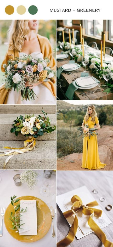 Mustard & Greenery, wedding themes