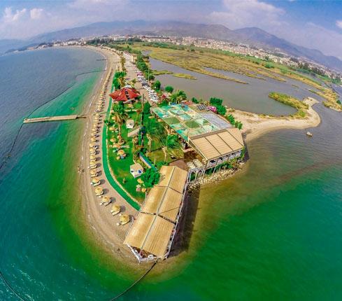 sat beach ariel view