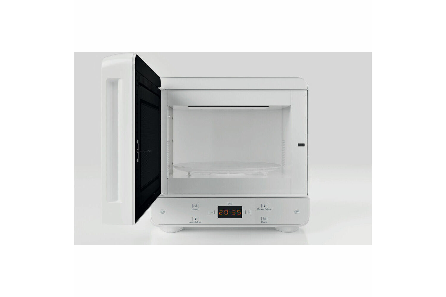 hotpoint mwh1331fw 700w 13l curve microwave white