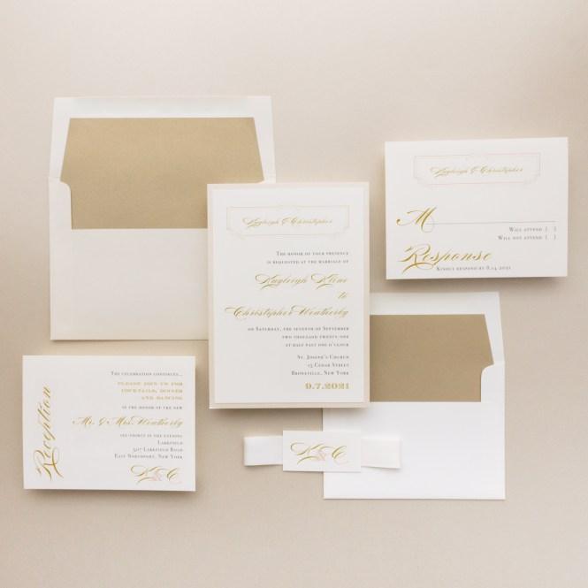 Elegant Ivory Wedding Invitations
