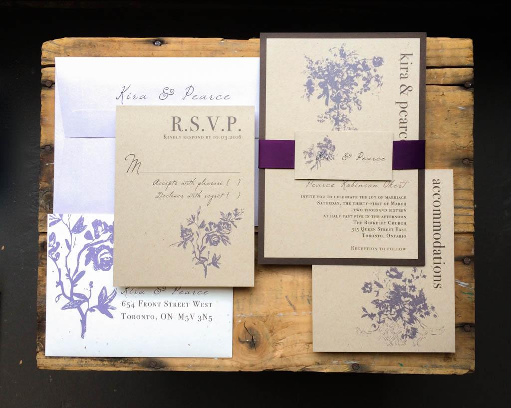 Rustic Blank Invitations