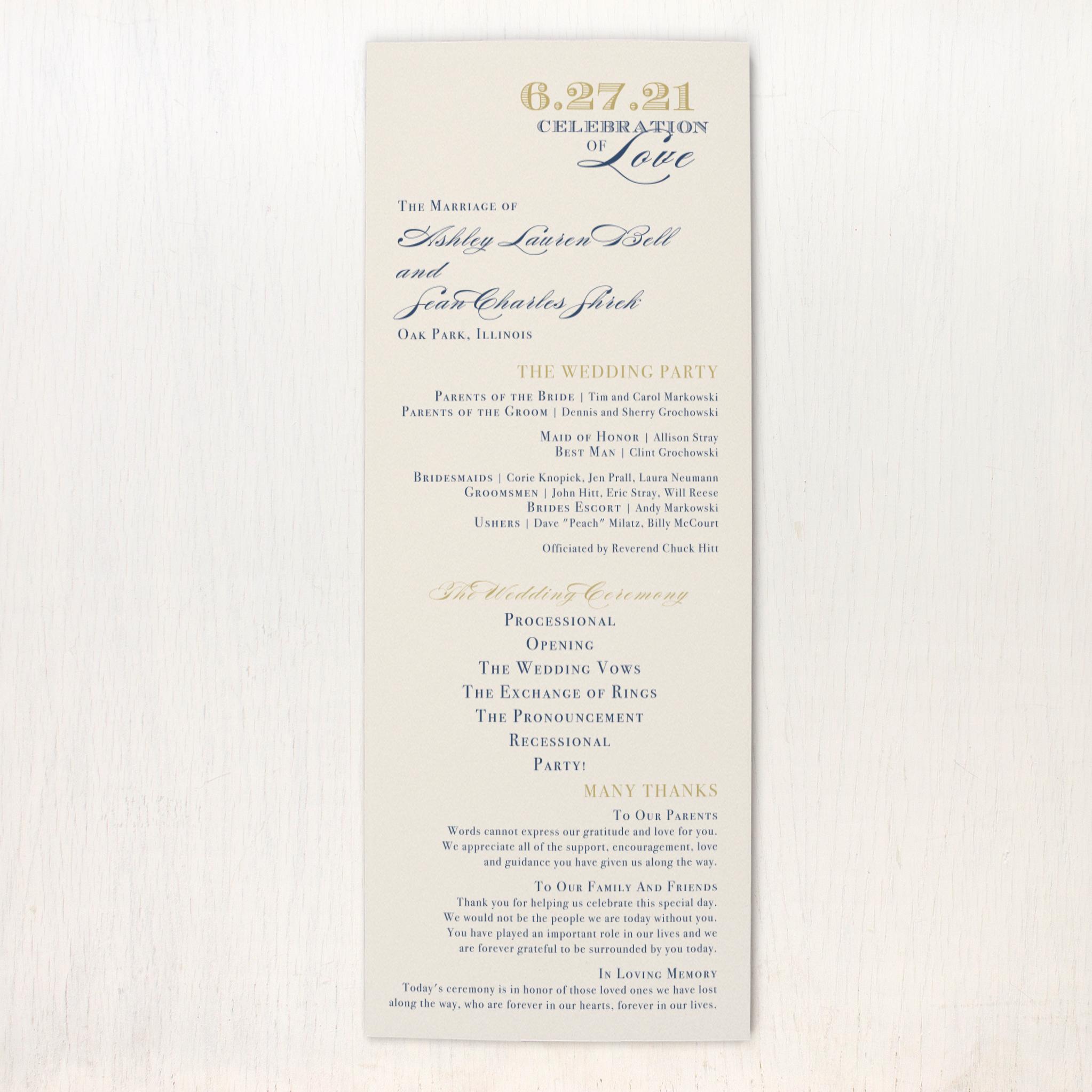 elegant navy script flat