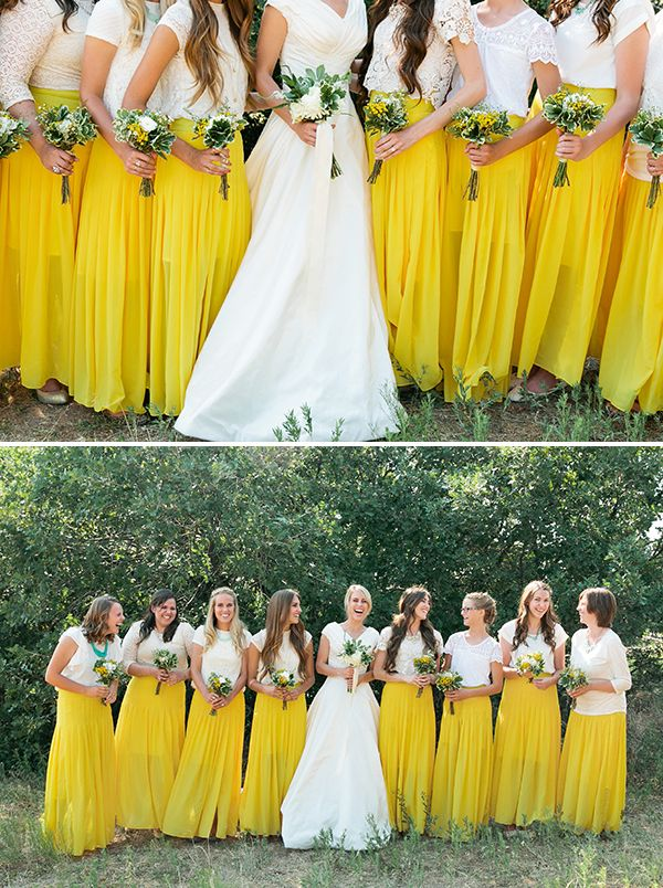 Maxi Skirt Bridesmaid Dresses Your Girls Will Love