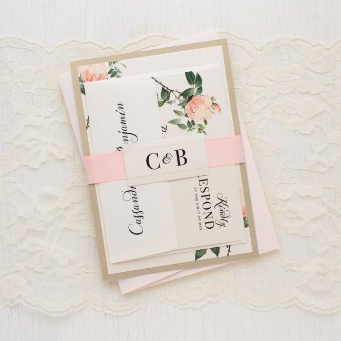 Ivory Blush Wedding Invitations Customizable Beacon Lane