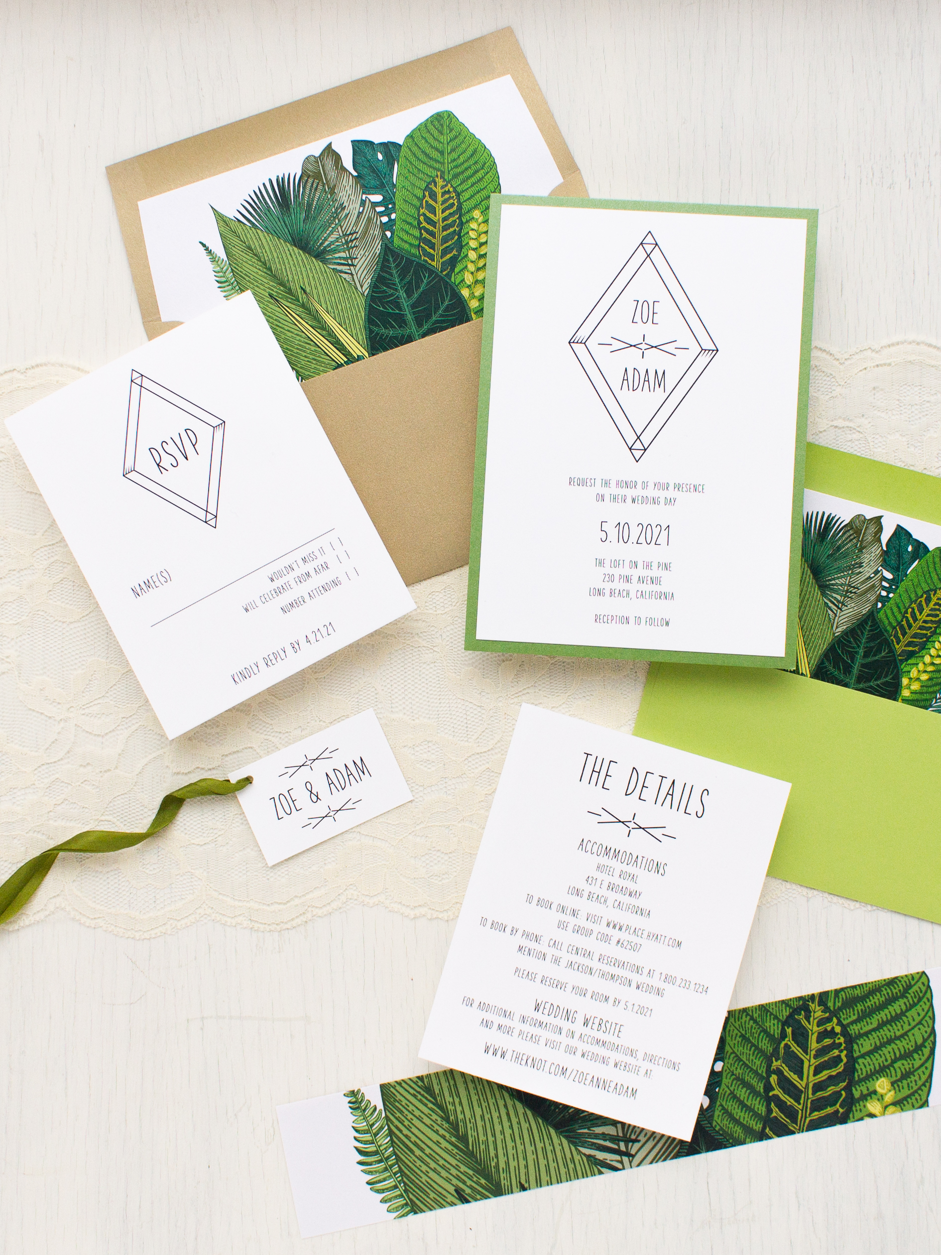 Tropical Wedding Shower Invitations