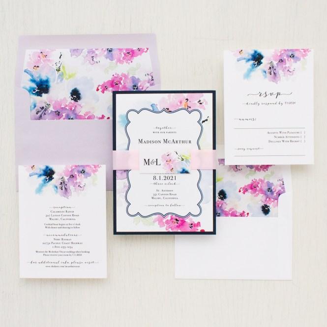 Lavender Fl Wedding Invitations