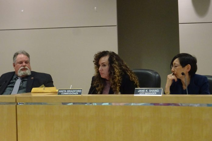 From left, Deltona City Commissioners Chris Nabicht and Anita Bradford with City Manager Jane Shang at the body's Jan. 21 meeting.