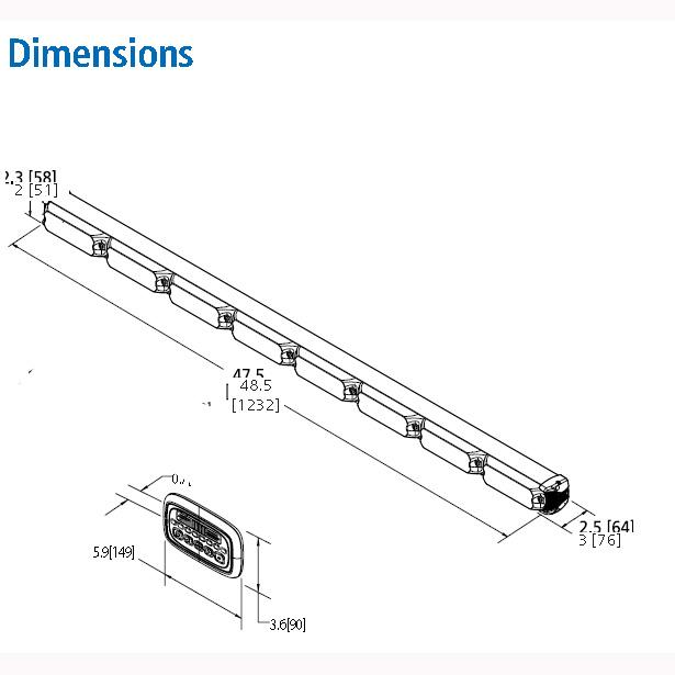 ECCO ED3300 12/24v LED Safety Director warning system PN