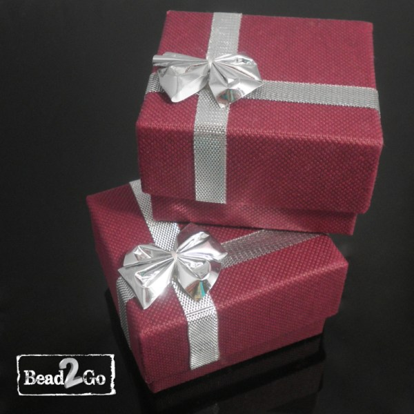 Bead2Go Burgundy Gift Box