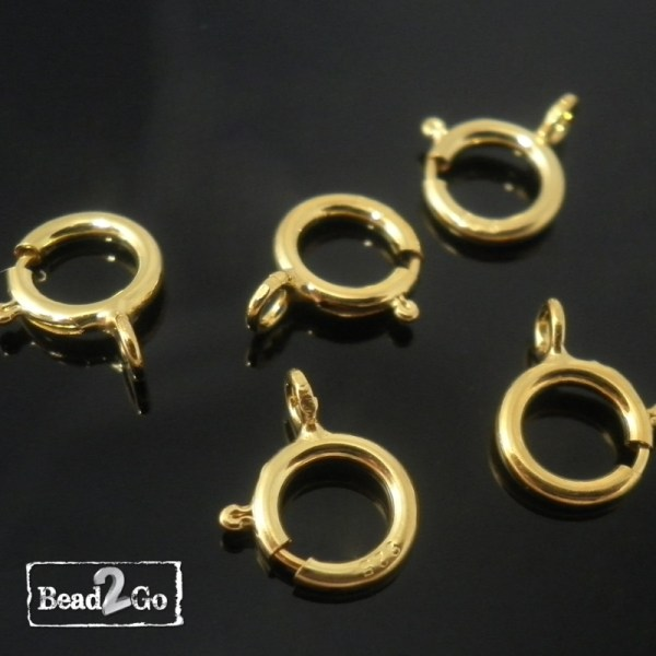 Gold Spring Ring Clasps