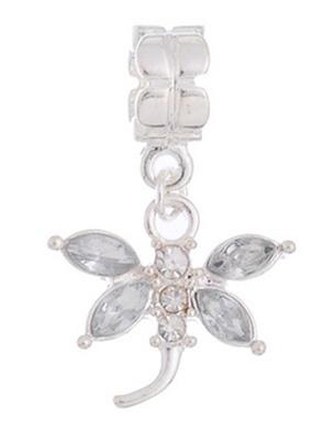 1pc White Gemstone Dragonfly Dangle