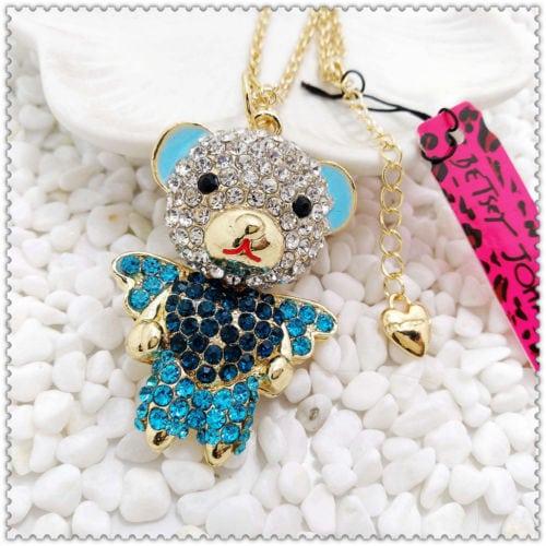 Betsey Johnson Blue Bear Pendant