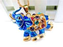 Betsey Johnson Blue Elephant Pendant