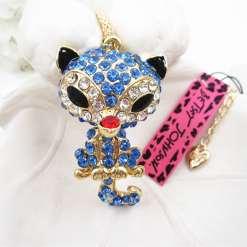 Betsey Johnson Blue Fox Pendant