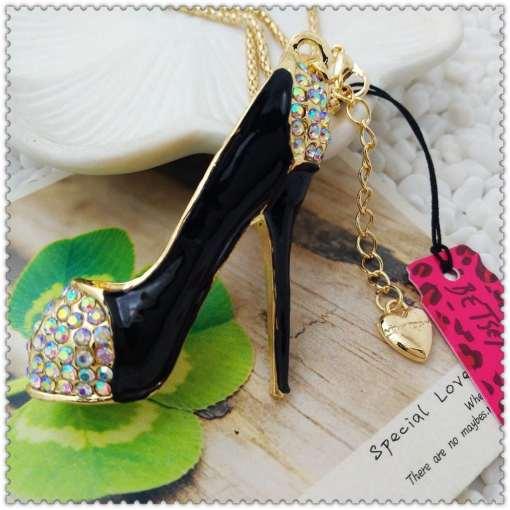 Betsey Johnson High-heeled Shoes Pendant