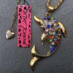 Betsey Johnson Multi-colored Dolphin Pendant