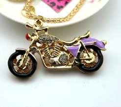 Betsey Johnson Purple Motorcycle Pendant