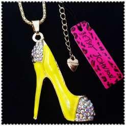 Betsey Johnson Yellow Shoe Pendant