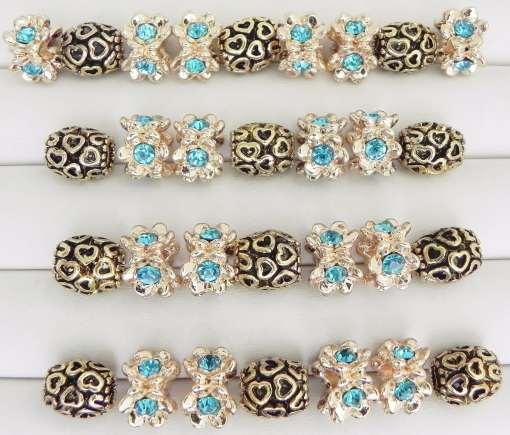 Iridescent Blue European Beads Collection