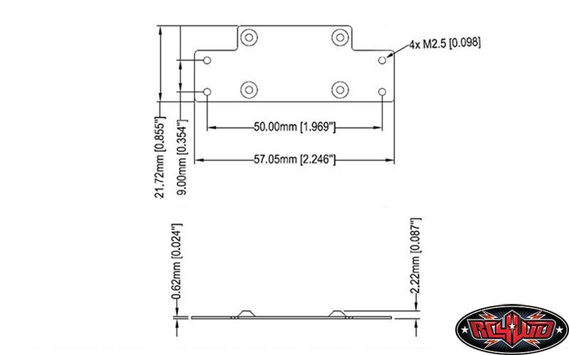 RC4WD 1/10 Mini Warn 9.5cti Winch Z-S1571 SMALL with