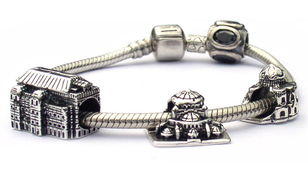 Landmark charm beads are sterling silver memories