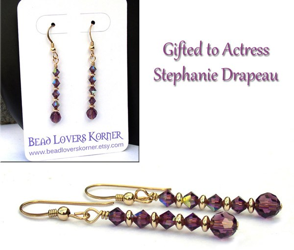 Celebrity style earrings for Stephanie Drapeau