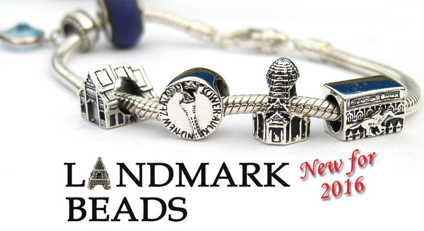 Landmark beads from around the world