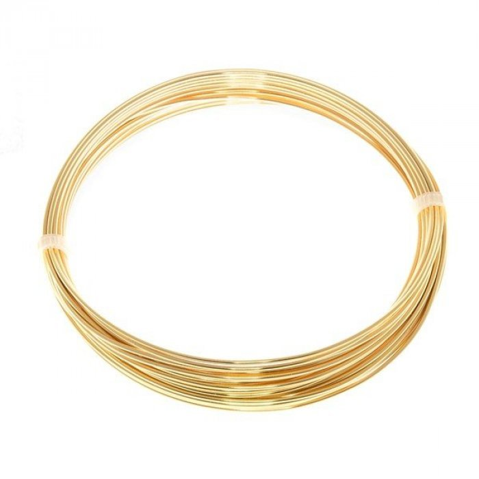 Bead Craft Wire Gilt On Copper 0 90mm 5 Metres