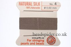 Grey 100% Silk Knotting Thread size 4