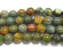 Cherry Creek Jasper Beads - Rounds 10mm Smooth Polish
