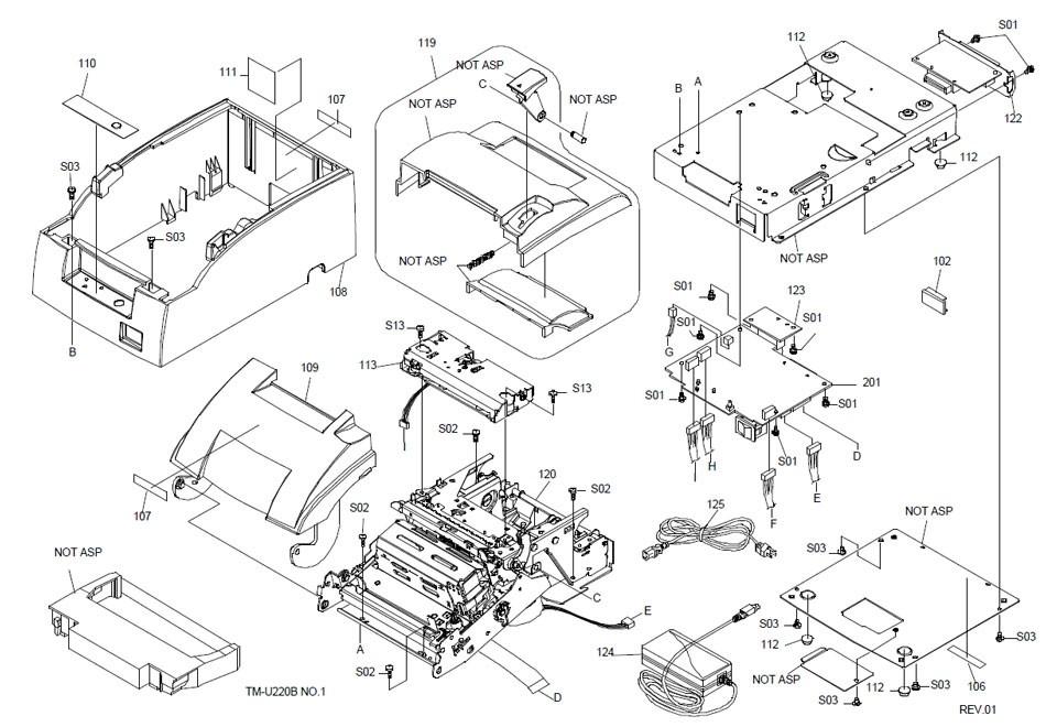 Epson TM-U220B Printer Part (TM220BX)