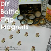 H is for How to Make Bottle Cap Magnets #atozchallenge