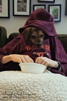 Luna Eats a Snack