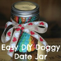 Easy DIY Valentine Doggy Date Jar