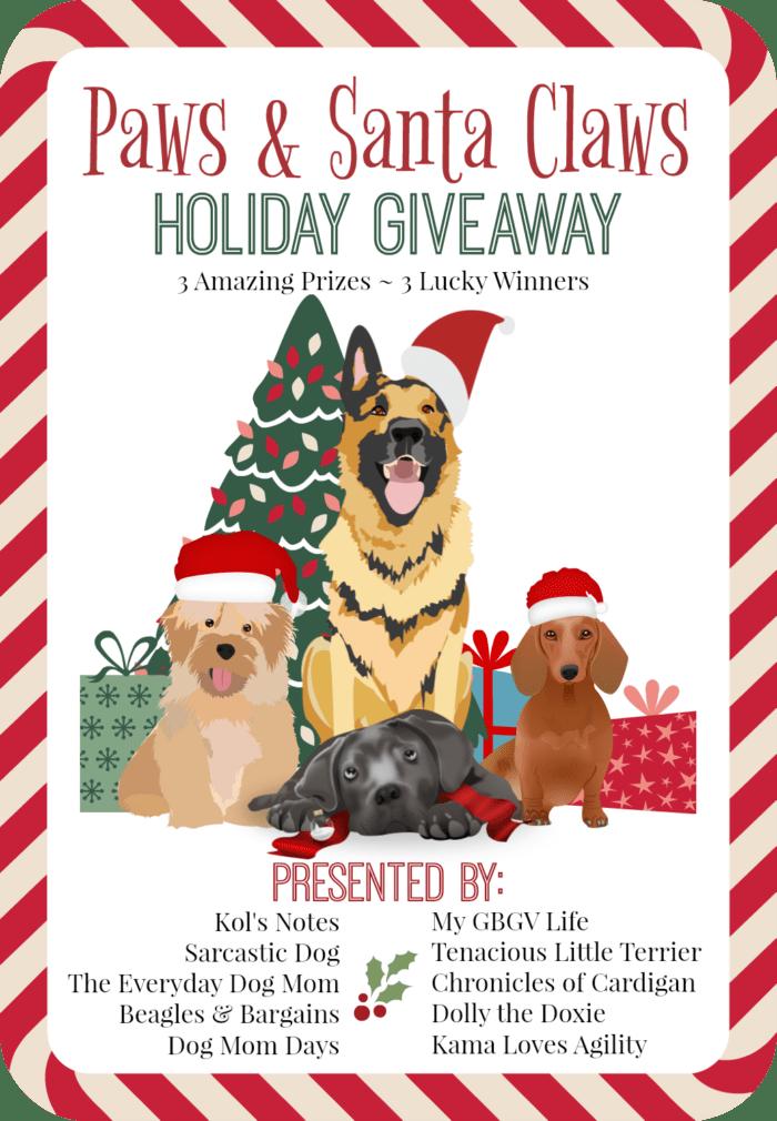 Paws & Santa Claws Holiday Giveaway | Pet Blogger Christmas Giveaway