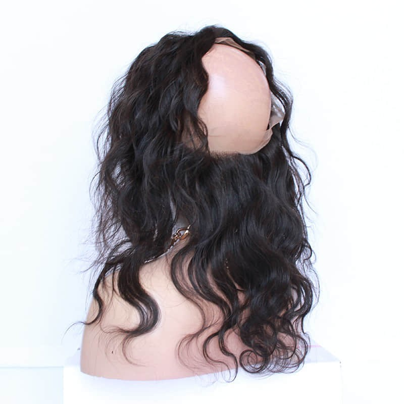 Brazilian Virgin Body Wave 360 Lace Frontal Closure With