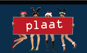 Christmas, card, viral, plaat,
