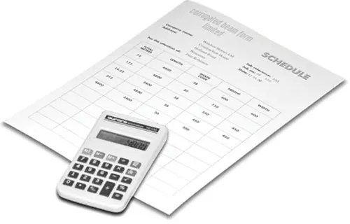 CBF Schedule of materials