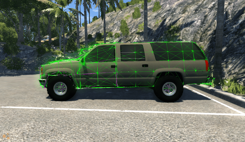 medium resolution of  jbeam and its around 95 done i need to figure out how to add 2 more doors for the rear and fix the front fenders the truck looks awesome in game