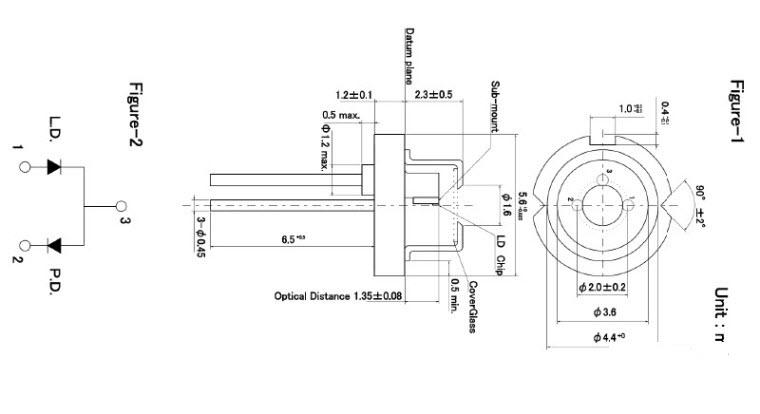 842nm 850nm 200mW Infrared Laser Diode RLD84PZJ2 ROHM