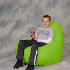 Green Bean Bag Chair Swivel Desk With No Wheels Neon City