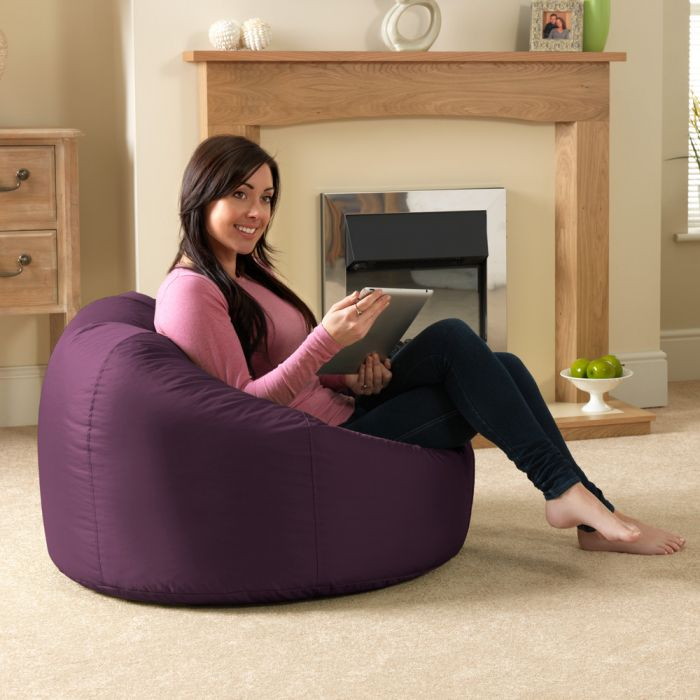 xl bean bag chairs chair cushion for elderly classic indoor outdoor mulberry purple in living room