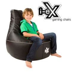 Kids Gaming Chairs Folding Wooden Rocking Chair I Ex Rookie Black Silver And