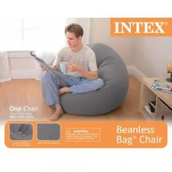 Intex Inflatable Chairs Black Leather Swivel Lounge Chair Beanless Bag Bean Bags Expert