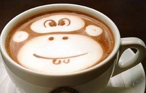 monkey latte art