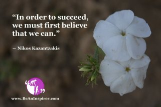 Belief in Self is the Starting Point of Success