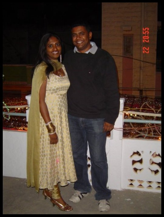 Shalini Saraswathi with her husband Prashanth Chowdappa