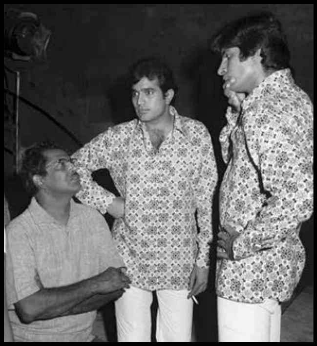 Hrishikesh-Mukherjee-with-Rajesh-Khanna-and-Amitabh-Bachchan-Be-An-Inspirer