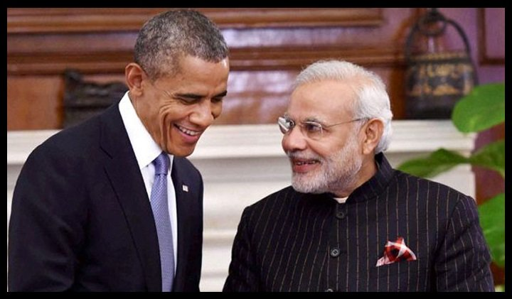 Narendra-Damodardas-Modi-with-Barack-Hussein-Obama-Be-An-Inspirer